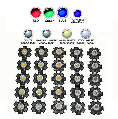 Wholesale 3W High Power UV White Red Blue Green IR 850 940 Diode LED Chip Light