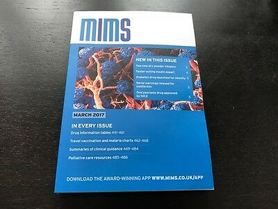 MIMS * March 2017 * The Prescribing Handbook For Doctors Nurses Pharmacist - New