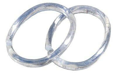 Sealskin Shower Curtain Rings (Pack of 12) Colour: Clear