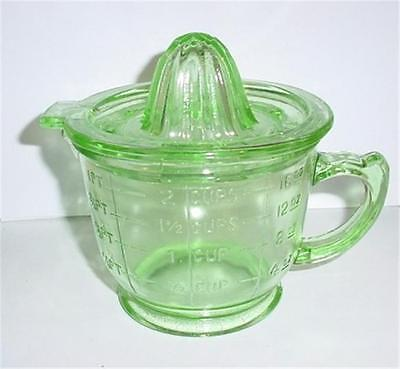Green Glass 2 Cup Juicer- Reamer