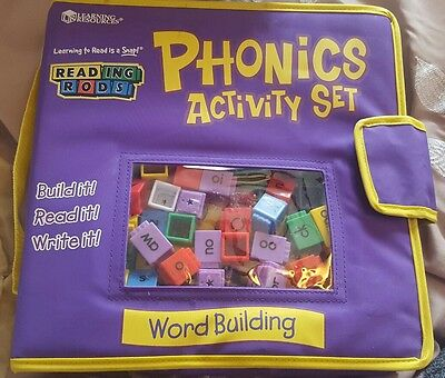learning resources reading rods phonics activity set word building