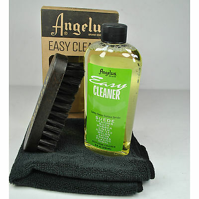 Angelus Easy Cleaner Kit Suede Leather Shoe Cleaning kit 8oz With Brush towel