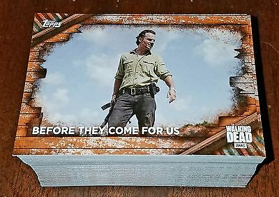 The Walking Dead Season 6 - 2017 Topps - Complete Set Of 100 Cards Rust Parallel