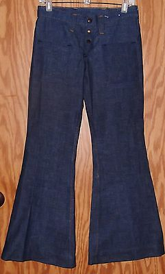 Women's Vintage Wrangler No Back Pocket Snap Front Bell Bottom Jeans Size 5