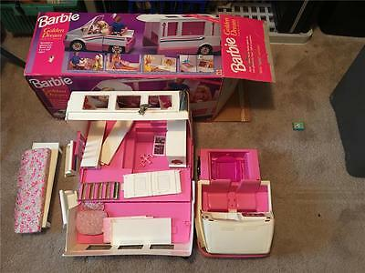 Vintage Mattel Barbie Doll Camping Folding Camper & Accessories Toy Set In Box