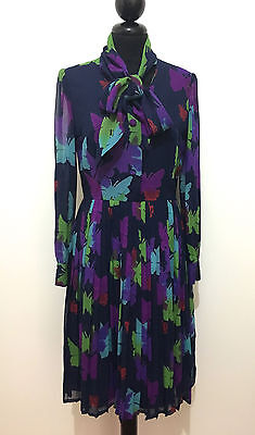 CULT VINTAGE '60 Abito Vestito Donna Seta Crèpe Silk Woman Dress Sz.S - 40