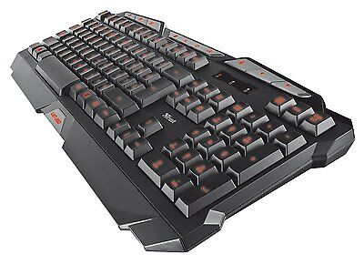 Trust GXT 280 LED Illuminated Gaming Keyboard, UK layout - Black