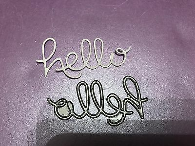 "Sizzix Unusual ""hello"" Cutting And Embossing Die New Lower Price!!!"