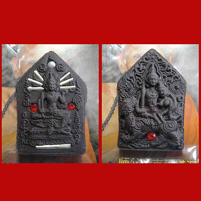 Khunphaen Prai Phra Yom LP Inn Thai Power Buddha Amulet lucky Love Charm Rich