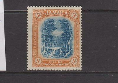 JAMAICA 1921 5s BLUE AND ORANGE YELLOW MOUNTED MINT