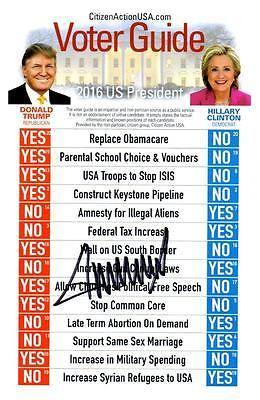 Donald Trump Voter Guide signed Photo autographed with COA