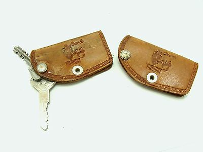 Old leather ford keychains-vintage lincoln key chains-old mercury keychain-ohio