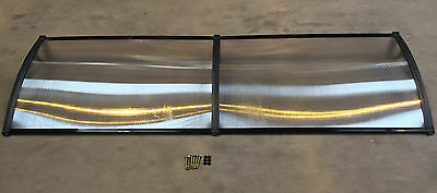 2400 x 800mm Door Canopy Awning Rain Shelter Front Back Porch Black