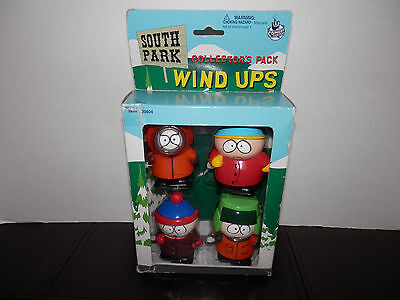 South Park WIND UPS Cartman Kenny MISB NEW SEALED BOX 1998 Comedy Central 4-Pack