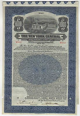 1921 The New York Central Railroad Company Bond with coupons