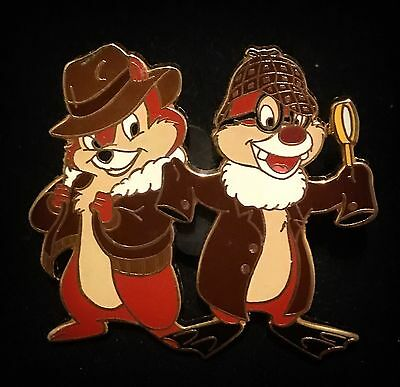 Japan LE 250 Detective Rescue Rangers Chip n and & Dale Holmes Disney Mall Pin