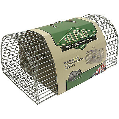 STV Self Set Multi Catch Metal Wire Rat Mouse Rodent Vermin Cage No Kill Trap