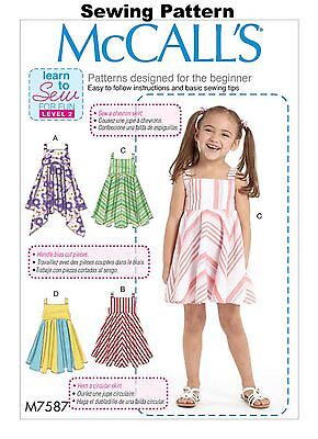 McCalls M7530 Learn to Sew for Fun PATTERN Misses Dresses Size 6-22