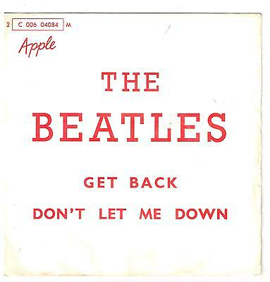 "The BEATLES Get back       7"" SP 45 tours"