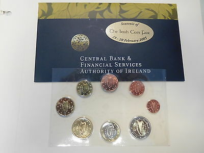 IRLAND Euro KMS 2005 Irish Coin Fair - BU - IRELAND Coin Set Kursmünzensatz