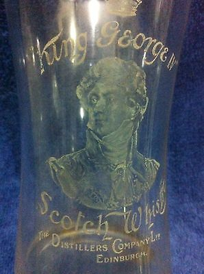 Old King George Iv Scotch Whisky Antique Portrait Glass Tumbler F/m Decanter Jug