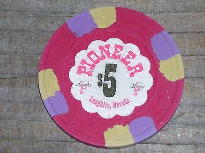 $5 3Rd Edition Gaming Chip From The Pioneer Casino Laughlin Nv