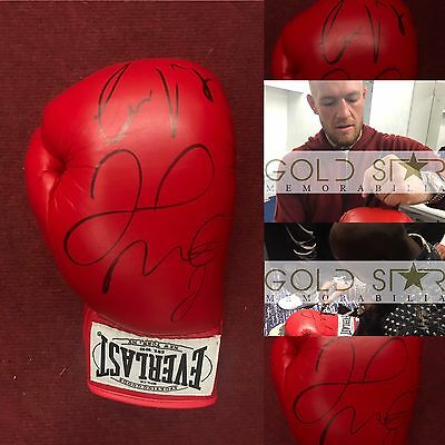 Conor Mcgregor And Floyd Mayweather Jr Dual Hand Signed Boxing Glove RARE COA