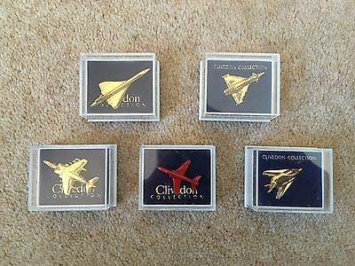 Clivedon Collection 5 Aeroplane Lapel Pins