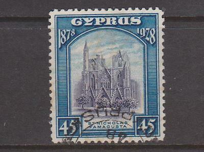 CYPRUS 1928 45pi VIOLET AND BLUE USED
