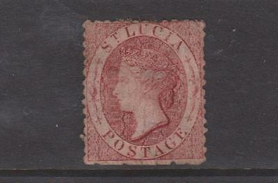 St Lucia 1871 Rose Red Used