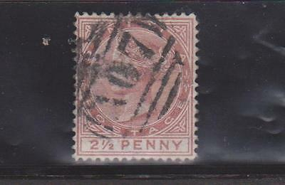 DOMINICA 1877 2.5d RED BROWN USED