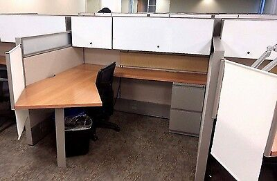 LOADED Haworth Premise Cubicles Workstations wt Glass 6 x 6ft Office Furniture