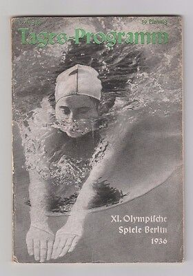 Orig.PRG  Olympic Games BERLIN 1936 - 08.08. / with Football 1/4 Finals ! RARITY