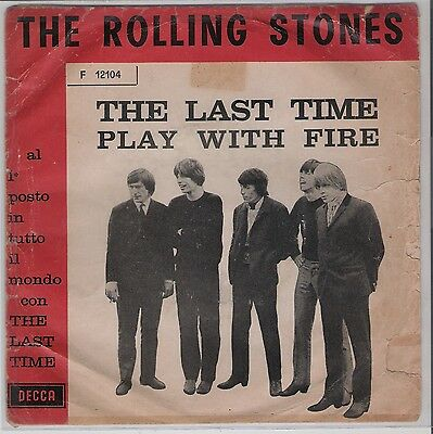 The Rolling Stones- The Last Time / Raro 7' Italy Press)