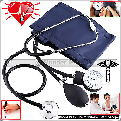Stethoscope Machine Aneroid Sphygmomanometer Arm Cuff Blood Pressure BP Monitor