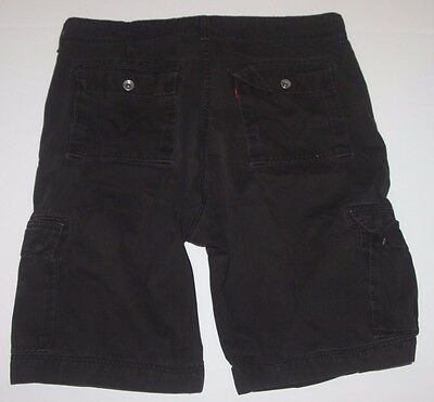 Levis Men's Cargo Shorts Red Tab Black Outdoor Hiking Shorts Size 42 100% Cotton