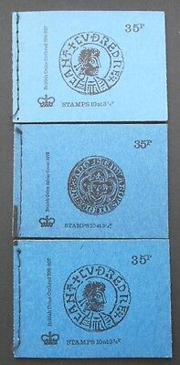 GB 35p Booklets DP1 DP2 DP3 1973-74 - British Coins covers - mint condition
