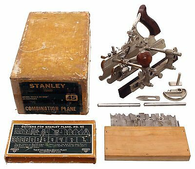 Stanley No. 45 Combination Plane -Complete in Original Box-Unused Condition