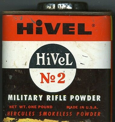 Vintage Hercules Hi Vel 2 Powder Can (EMPTY)
