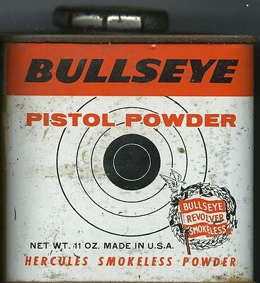 Vintage Hercules Bullseye Powder Can (EMPTY)