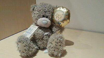 Me to you bear soft CUDDLY gold CUTE 18th balloon bargain