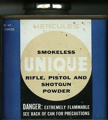 Vintage Hercules UNIQUE Powder Can (EMPTY)