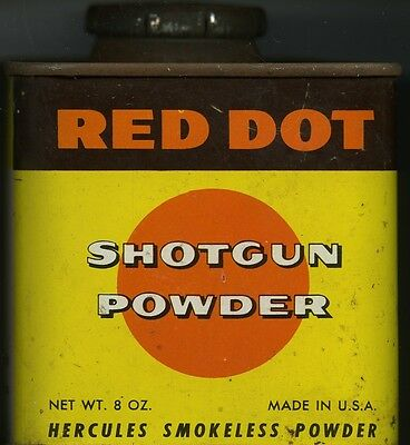 Vintage Hercules Red Dot Powder Can (EMPTY)