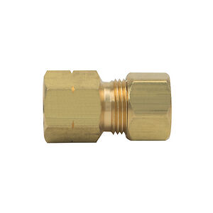 PROFLO PFXFCUCBN 200 psi OD Tube x FIP Brass Compression Adapter, 3/8 in