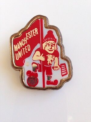Vintage Manchester United Football Club Badge By Coffer Sports