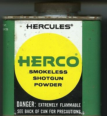 Vintage Hercules HERCO Powder Can (EMPTY)