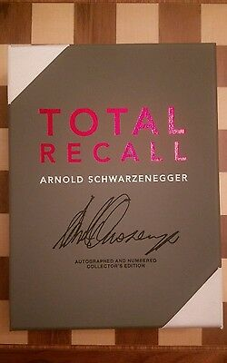 Total Recall SIGNED NUMBERED LIMITED EDITION Arnold Schwarzenegger Autobiography