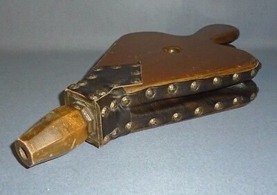"""VTG HARDWOOD Fireplace Bellows -WOOD & SIMULATED LEATHER - 17-3/4"""" x 9"""""""