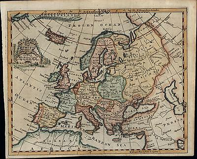 Europe continent Germany Poland Russia Anatolia 1758 Jefferys old antique map