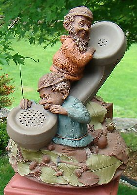 """VIINTAGE TOM CLARK GNOME 1985 """"MOORE OR LES"""" WATSON BELL PHONE 911 CAIRN lot 78"""